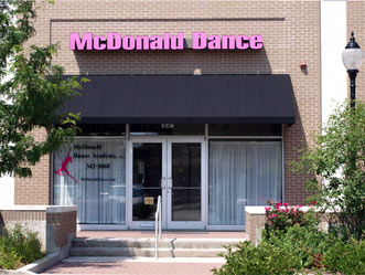 Store Front for McDonald Dance Academy of Arlington Heights, IL